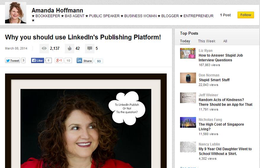 Amanda Hoffman's LinkedIn Post